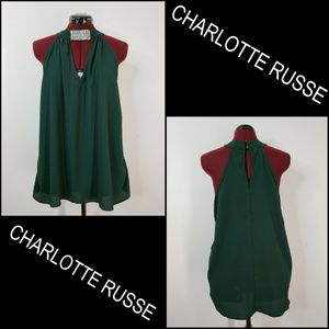Charlotte Russe Woman Sleeveless Beaded Blouse Top